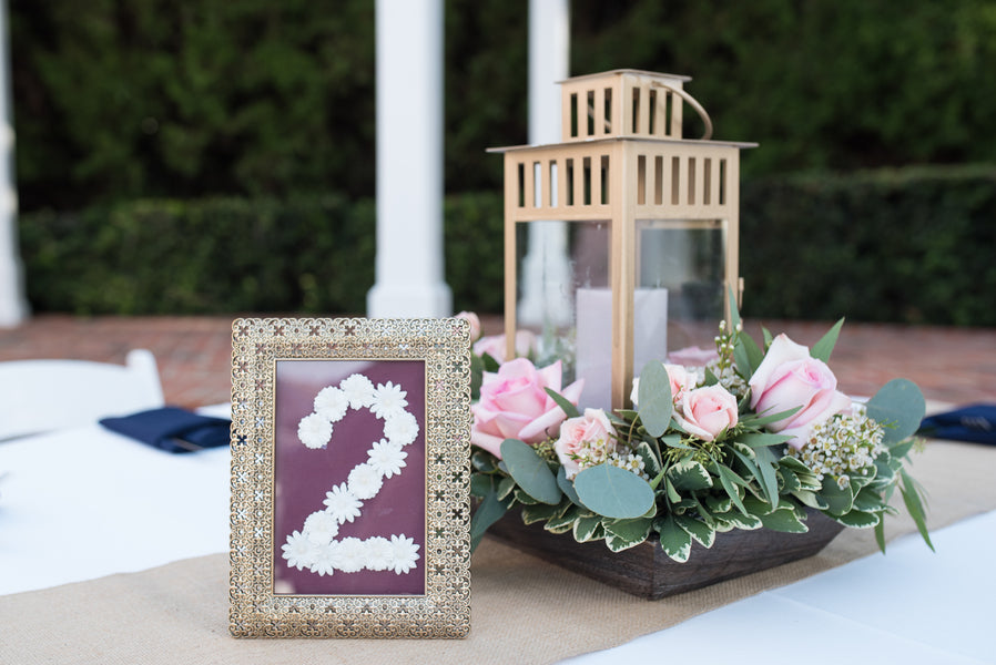 Reception Tables | An Elegant Rose Colored Wedding | Corner House Photography | Kate Aspen