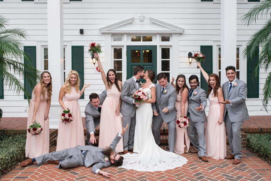 Wedding Party Having Fun | An Elegant Rose Colored Wedding | Corner House Photography | Kate Aspen