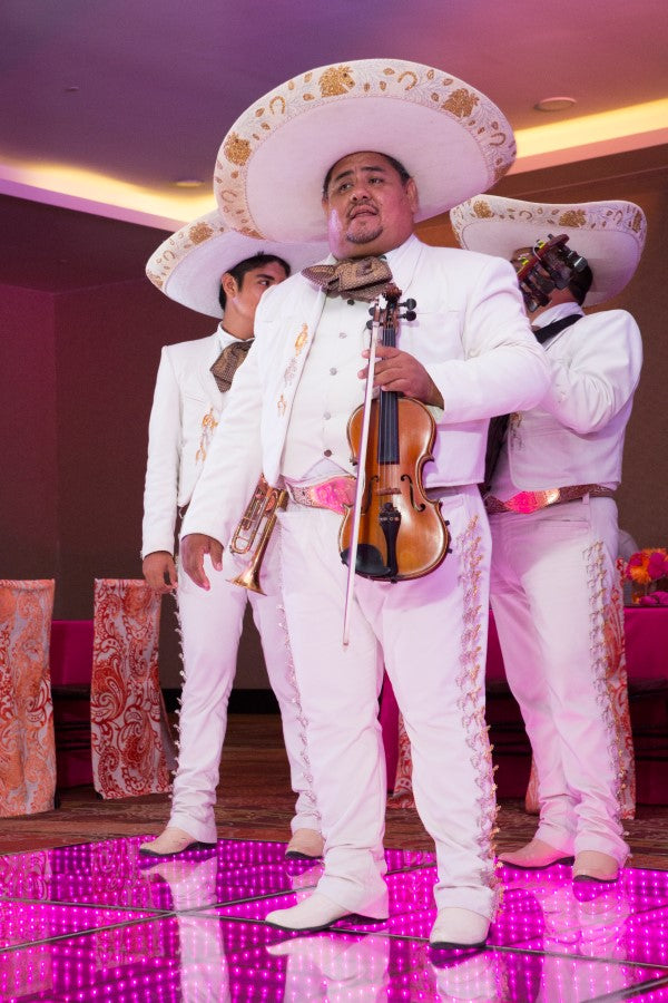 Mariachis at the Reception | Indian Fusion Wedding in Cancun | Adrienne Fletcher Photograhpy