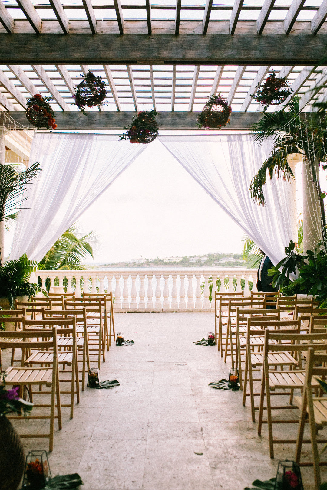 Outdoor Seating Area | A Dreamy Destination Wedding at St. Thomas | Kate Aspen