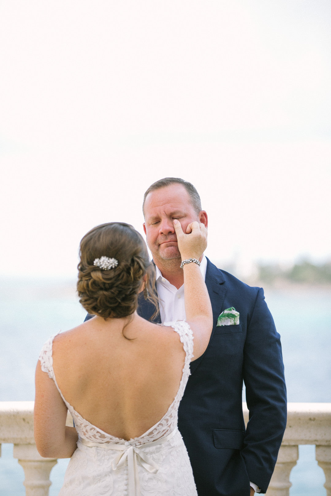 Bride and Groom | A Dreamy Destination Wedding at St. Thomas | Kate Aspen
