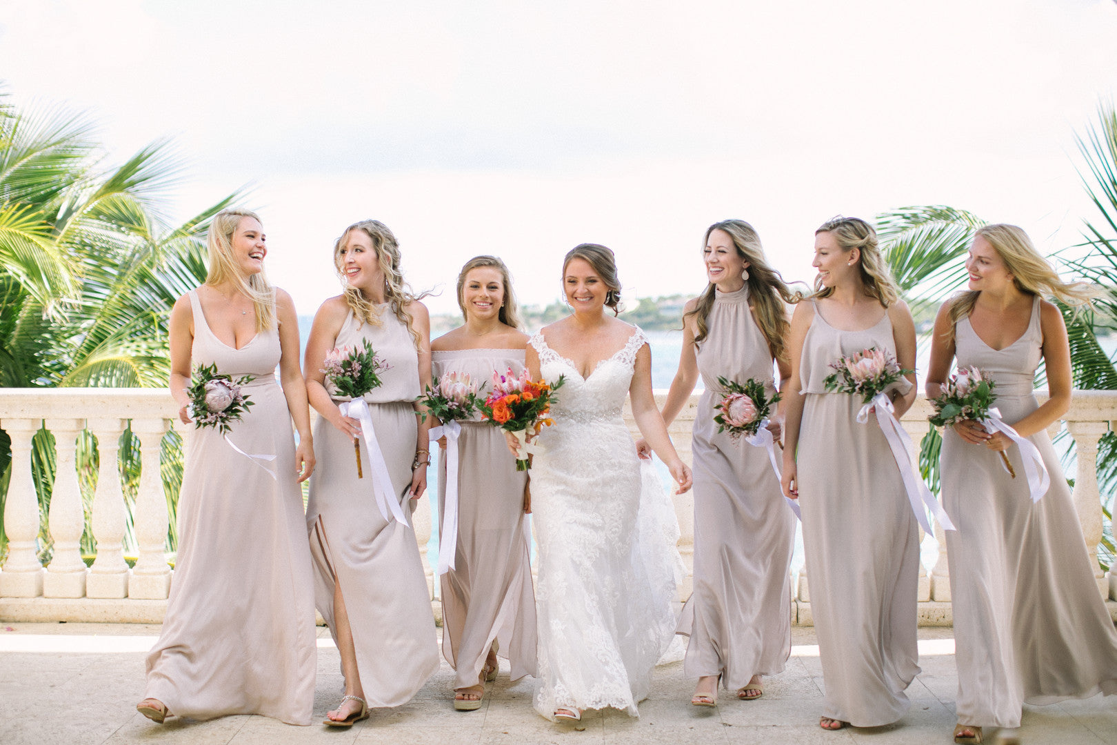 Bride and Bridesmaids | A Dreamy Destination Wedding at St. Thomas | Kate Aspen