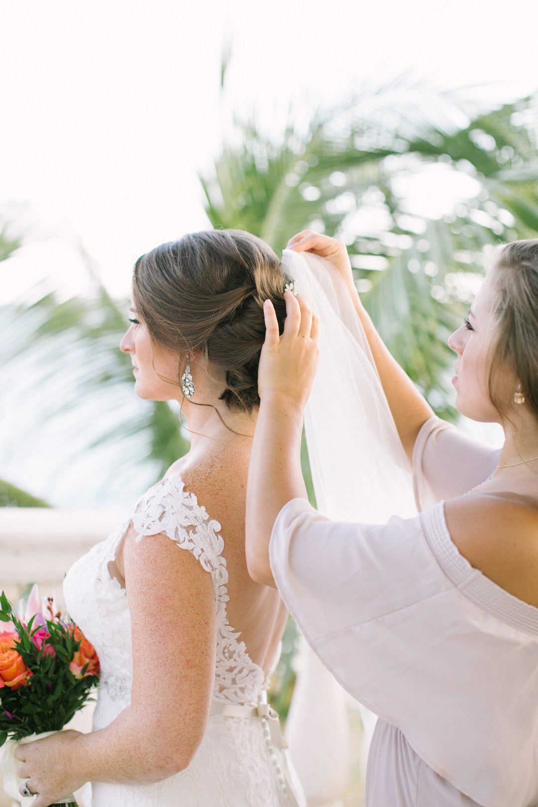 Bride and Bridesmaid | A Dreamy Destination Wedding at St. Thomas | Kate Aspen