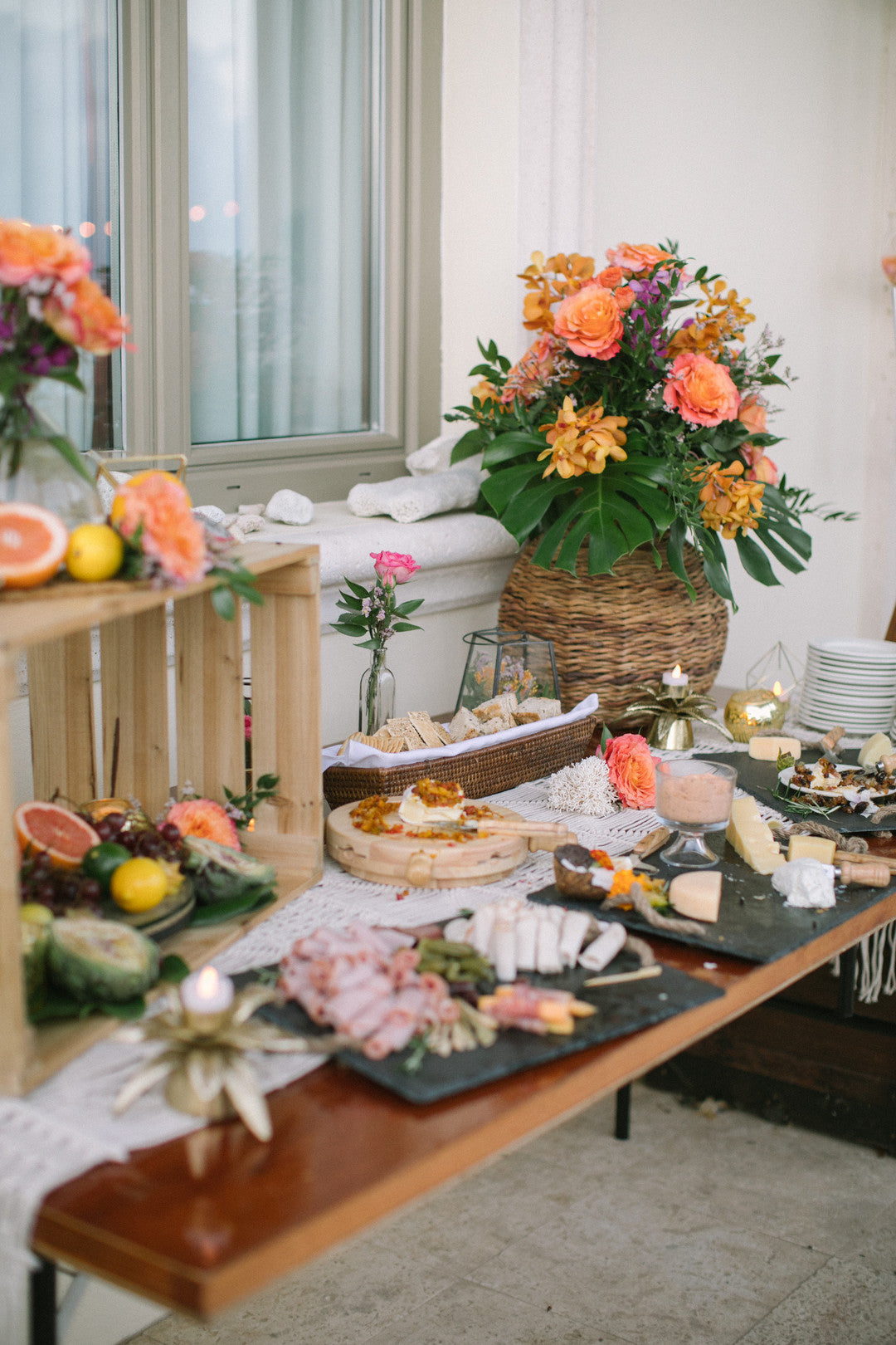 Appetizer Table | A Dreamy Destination Wedding at St. Thomas | Kate Aspen