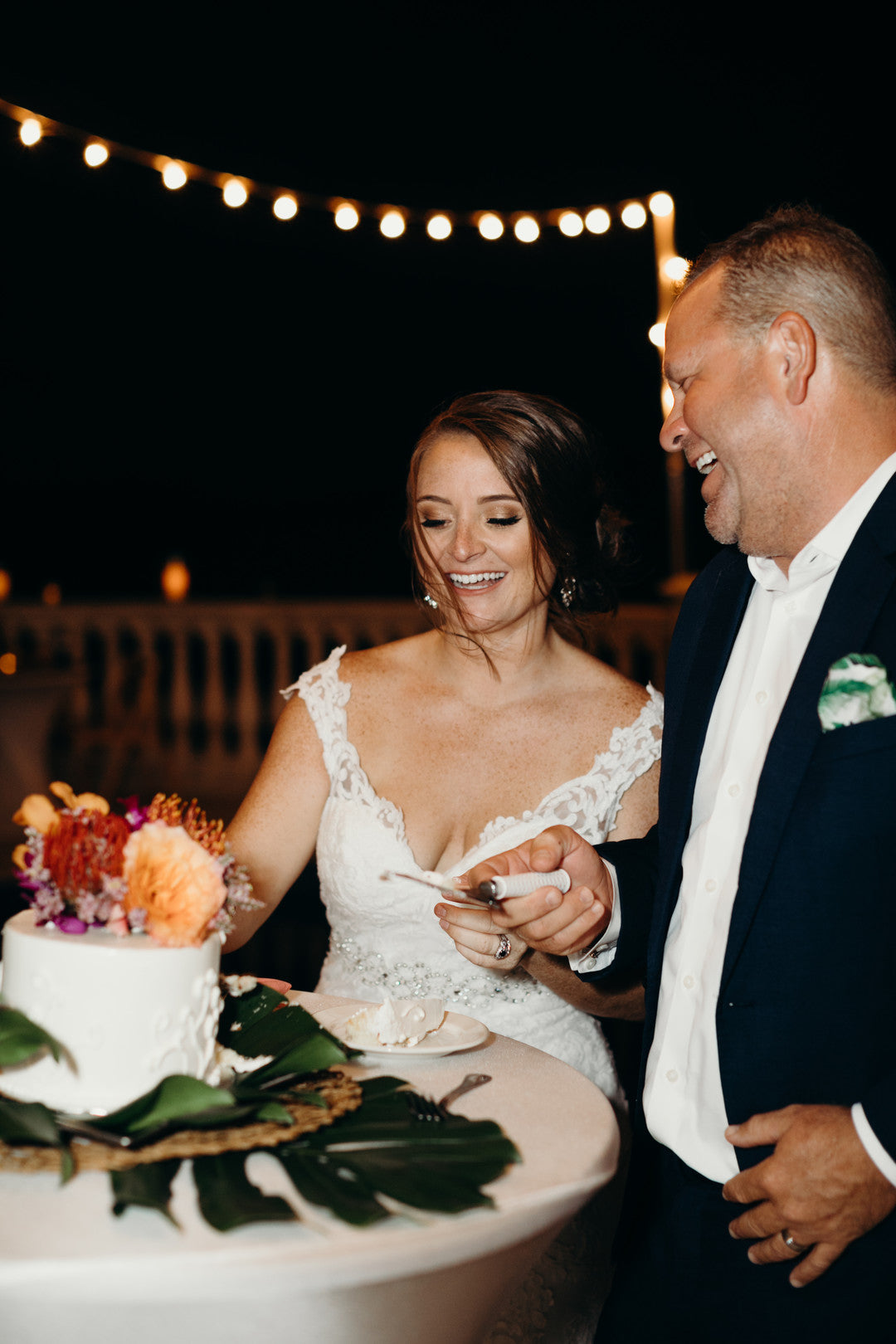 Cake Cutting | A Dreamy Destination Wedding at St. Thomas | Kate Aspen