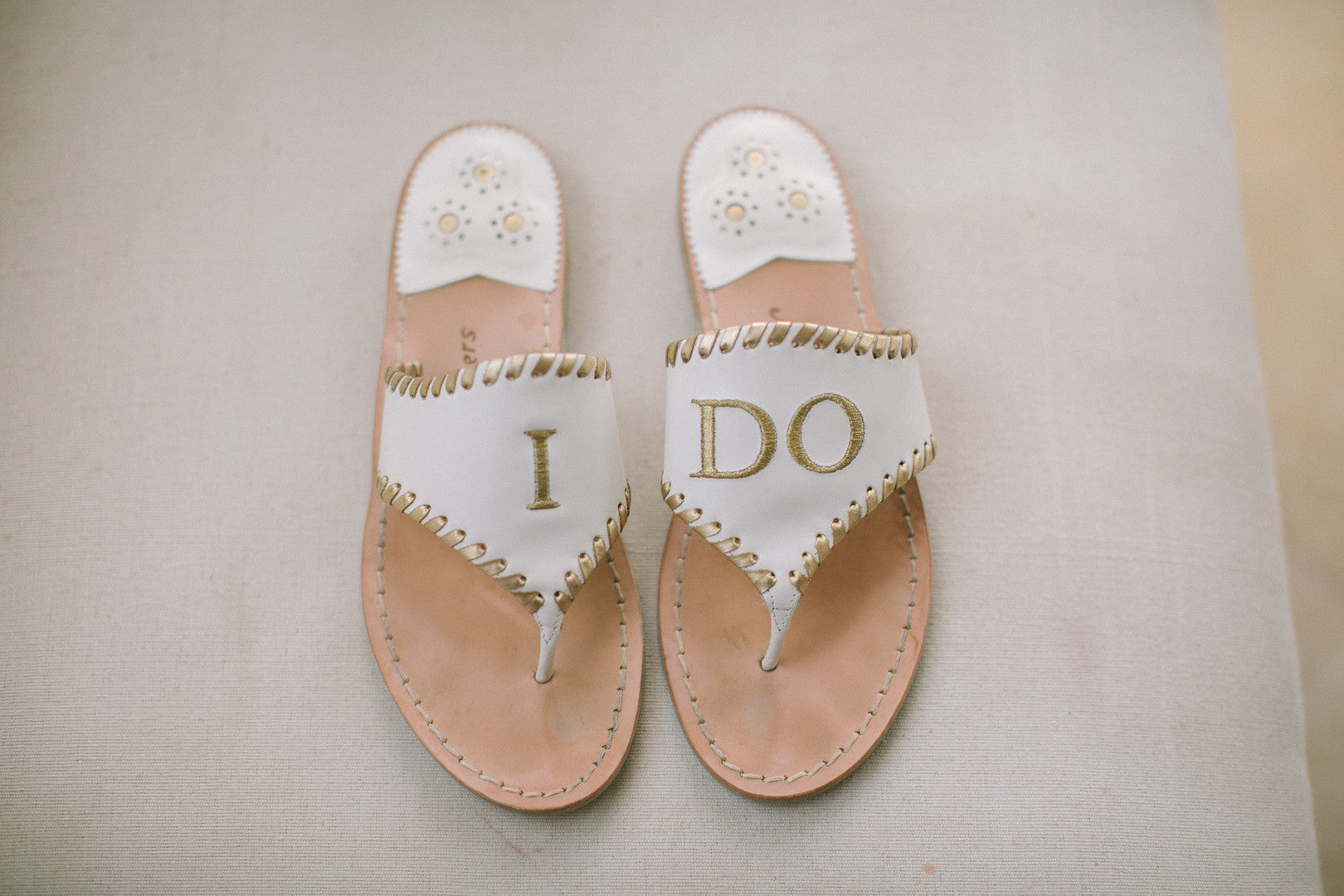 Bride's Sandals | A Dreamy Destination Wedding at St. Thomas | Kate Aspen