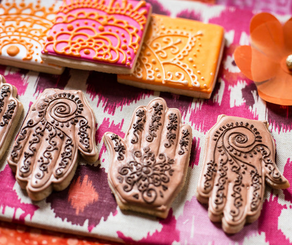 Mehndi Cookies | Chana Blumes Photography via Hostess With The Mostess