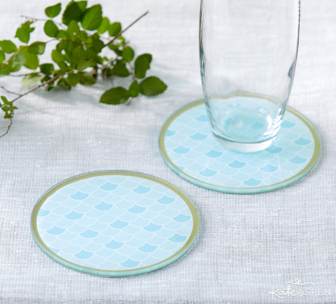 Mermaid Coasters | 10 Coastal Favors & Decor For A Seaside Escape | Kate Aspen
