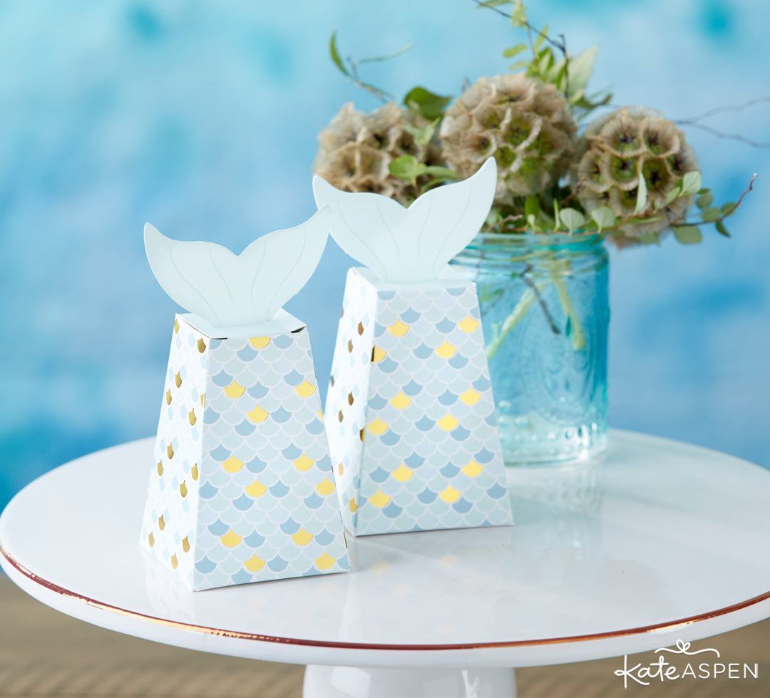 Mermaid Favor Box | 10 Coastal Favors & Decor For A Seaside Escape | Kate Aspen