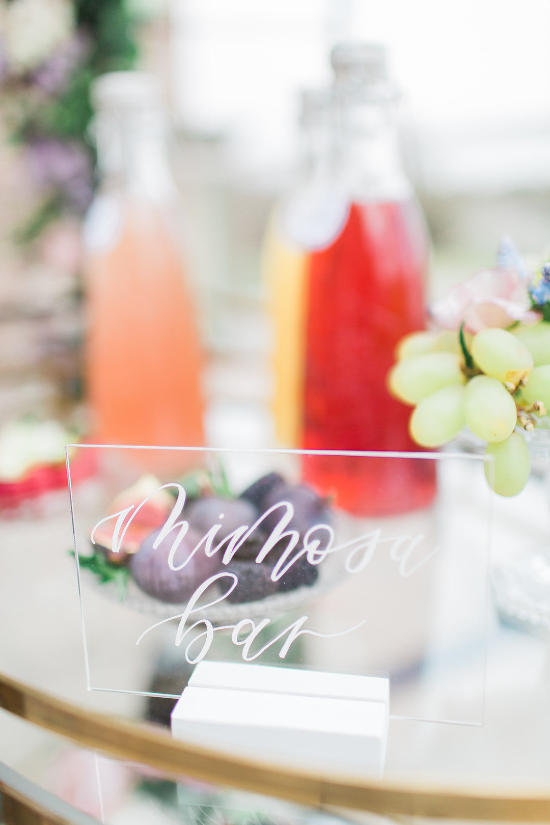 Mimosa Bar Sign | Tips For the Perfect Floral Bridal Shower | Kate Aspen