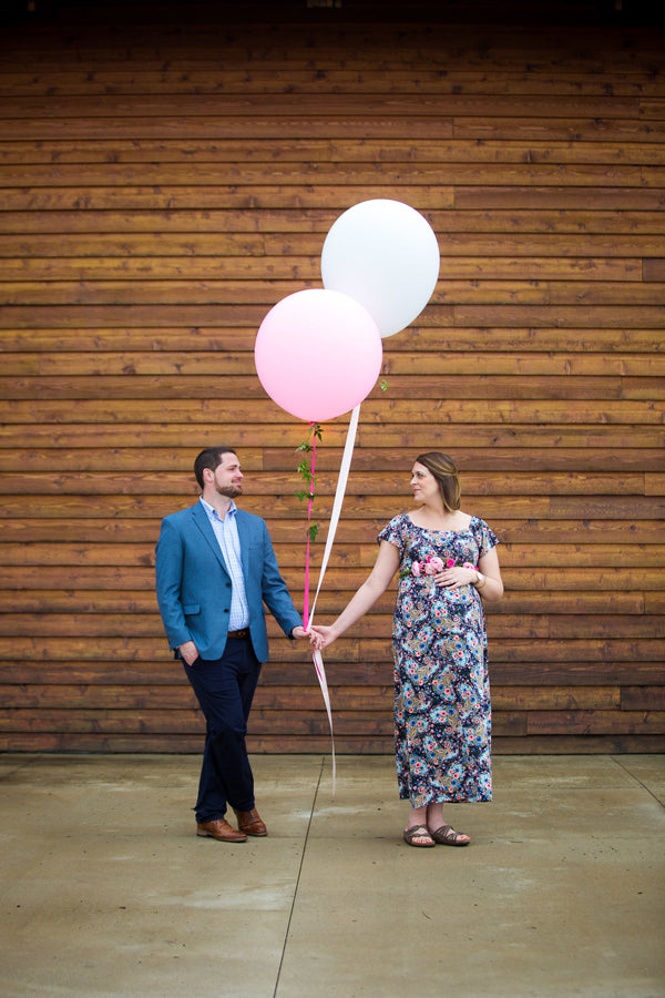 Mother and Father To Be | A Magical Pink Baby Shower | Kate Aspen
