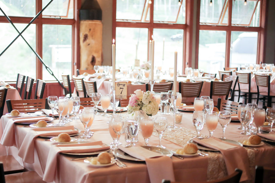 Rose Tablesetting | Mountain Wedding | Pepper Nix Photography