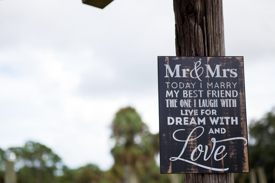 Mr & Mrs Sign | Whimsical Rustic Barn Wedding | McKenzie Stewart Weddings