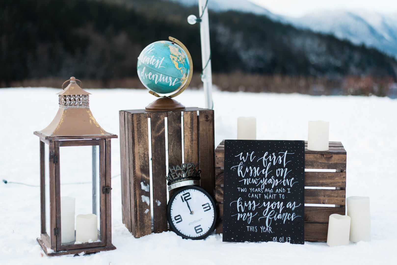 Proposal Decor | Ringing in the New Year With a Winter Proposal | Kate Aspen