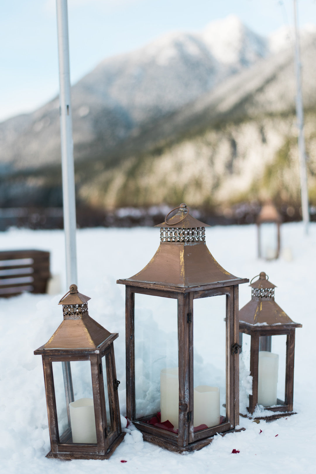 Lanterns | Ringing in the New Year With a Winter Proposal | Kate Aspen