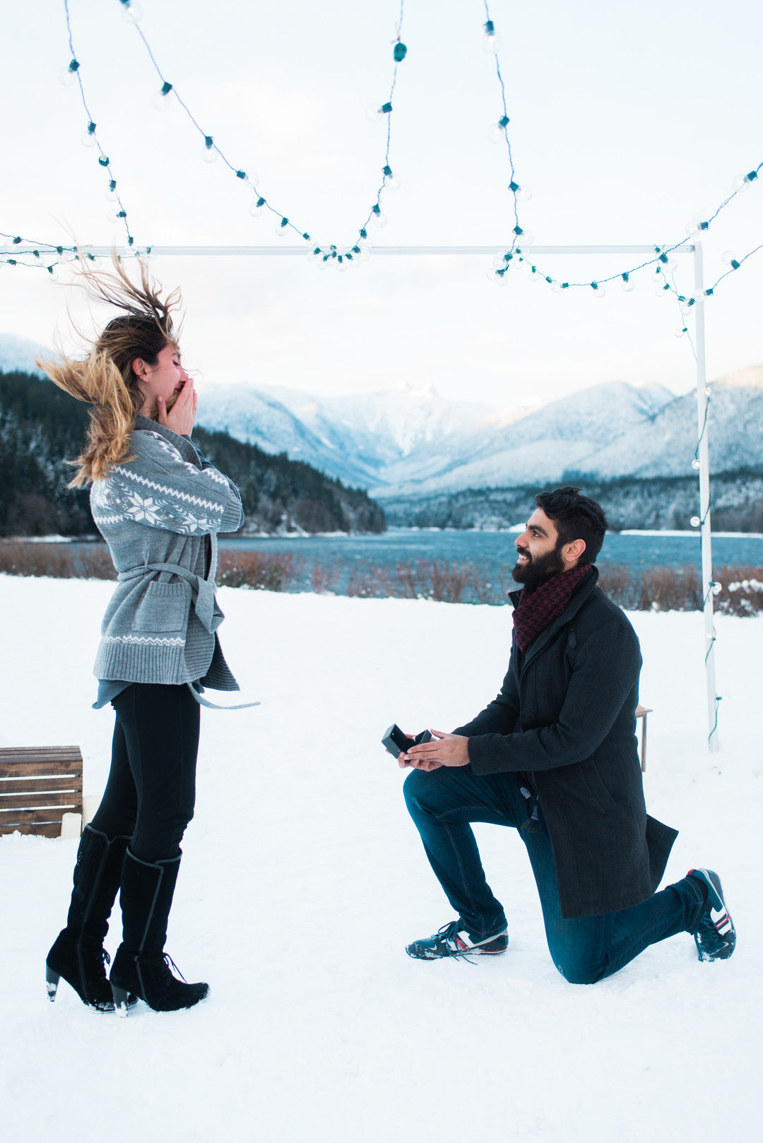 Avinash Proposes to Stephanie | Ringing in the New Year With a Winter Proposal | Kate Aspen