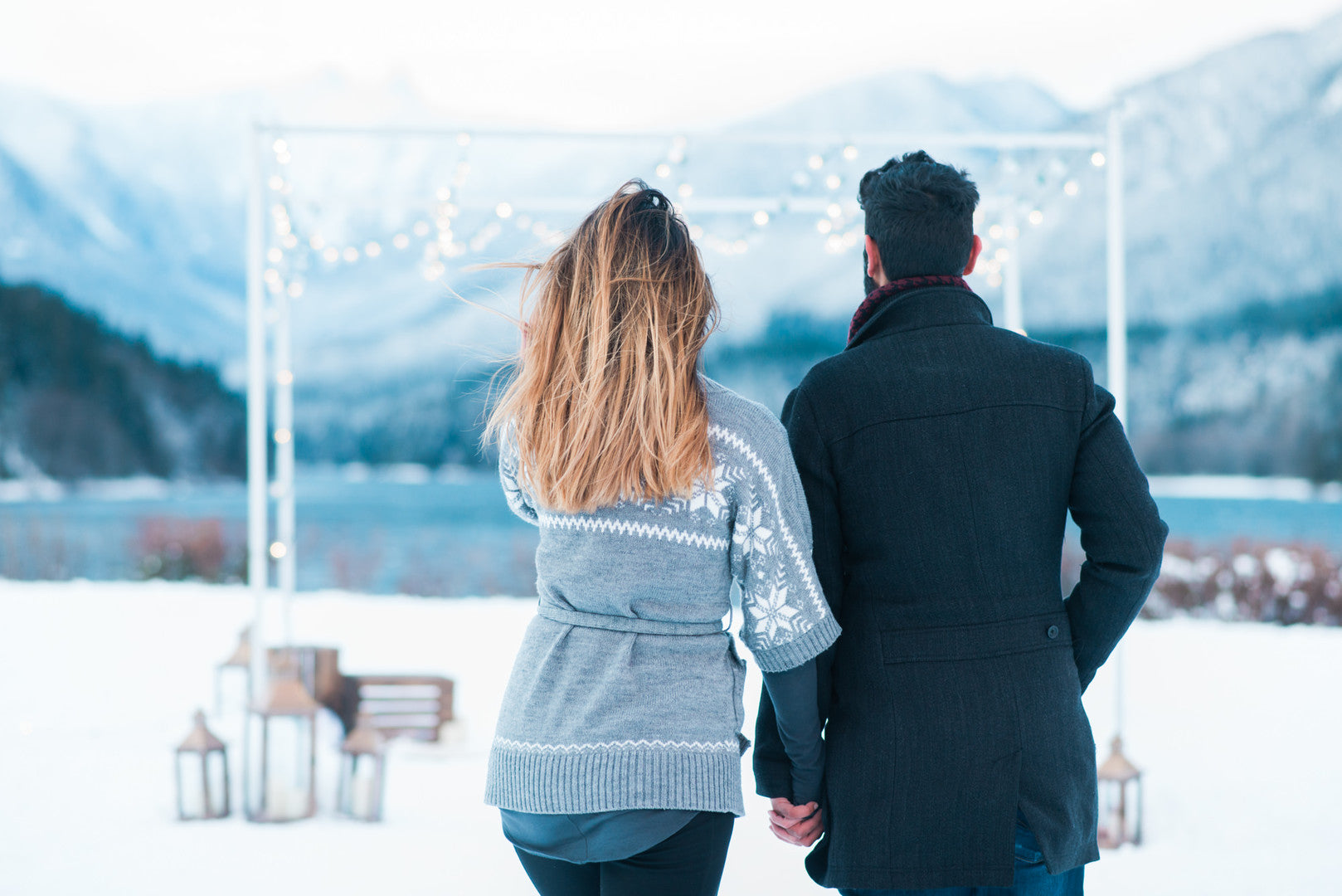 Avinash and Stephanie | Ringing in the New Year With a Winter Proposal | Kate Aspen