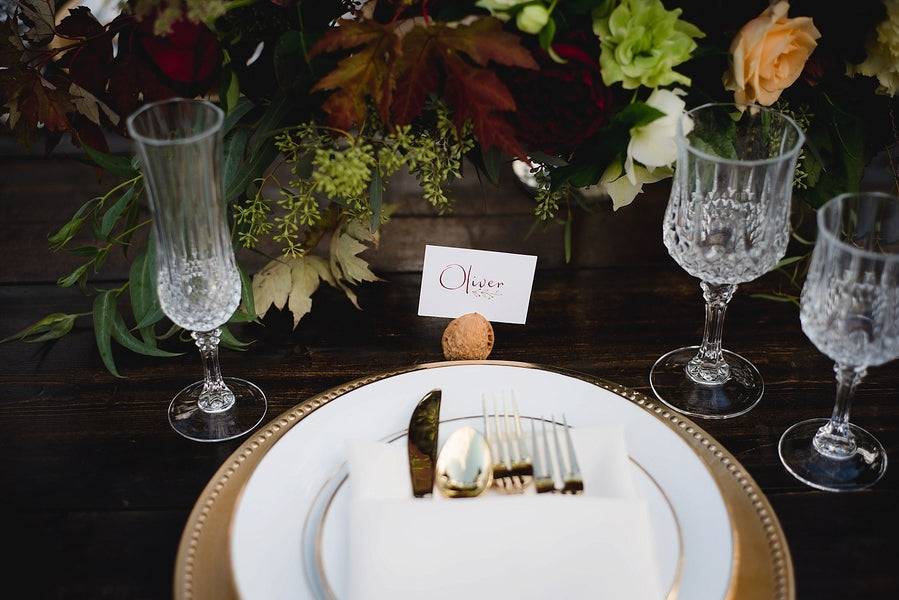 Name Card| Winter Winery Wedding | Amy Millard Creative Studio