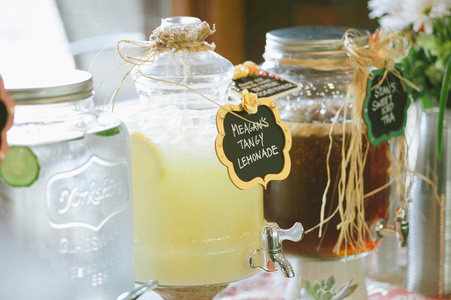 Chalkboard drink labels | Lemon Twist Images