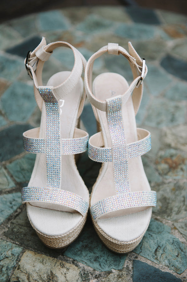 Beautiful beige and silver wedding shoes | Lemon Twist Images