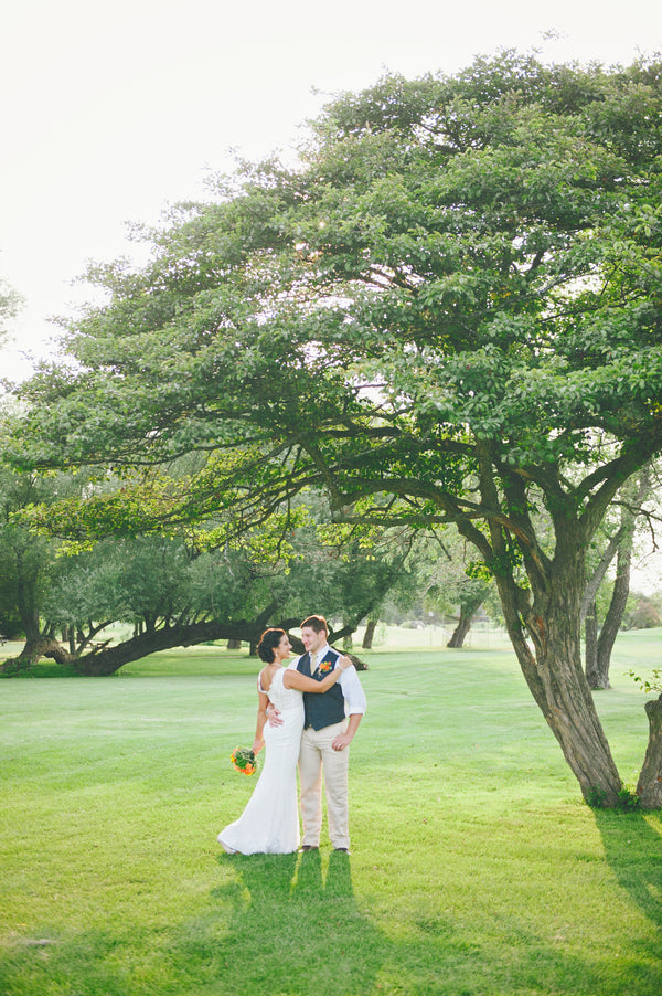Bride and groom under tree | Lemon Twist Images