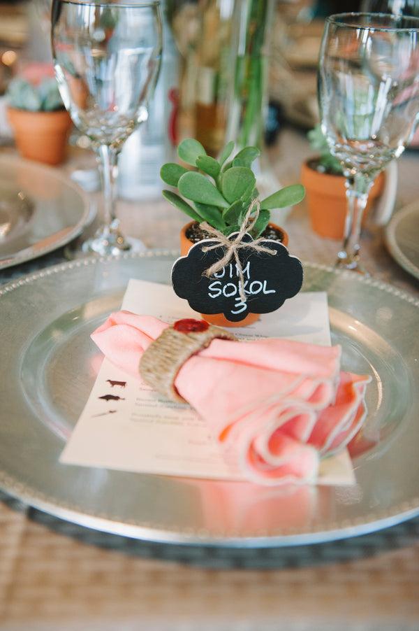Succulent place setting | Lemon Twist Images