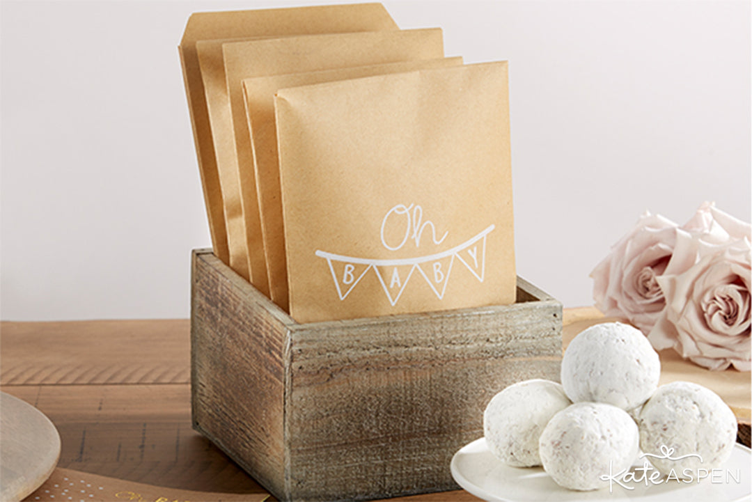 Oh Baby Rustic Baby Shower 73 Piece Set Cookie Bags | Rustic Baby Shower | Kate Aspen