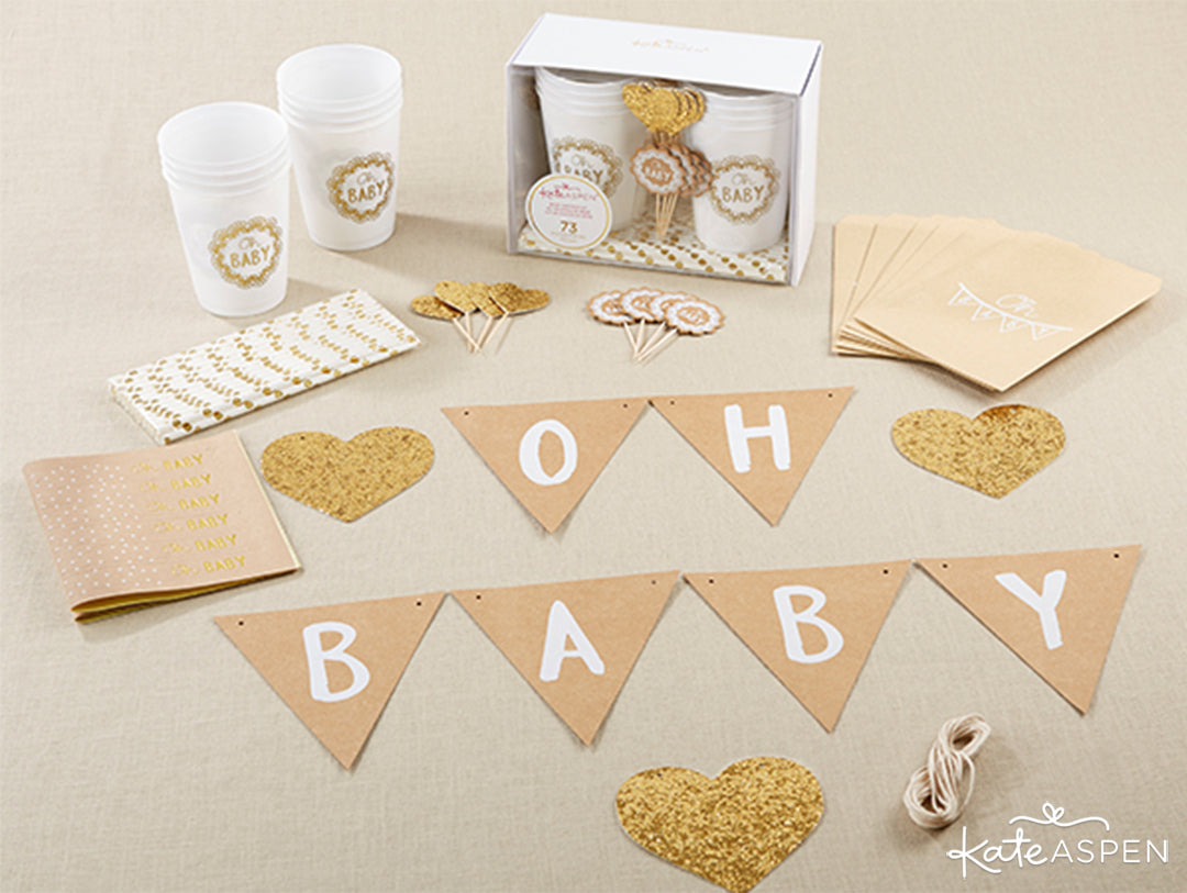 Oh Baby Rustic Baby Shower Kit | Rustic Baby Shower | Kate Aspen