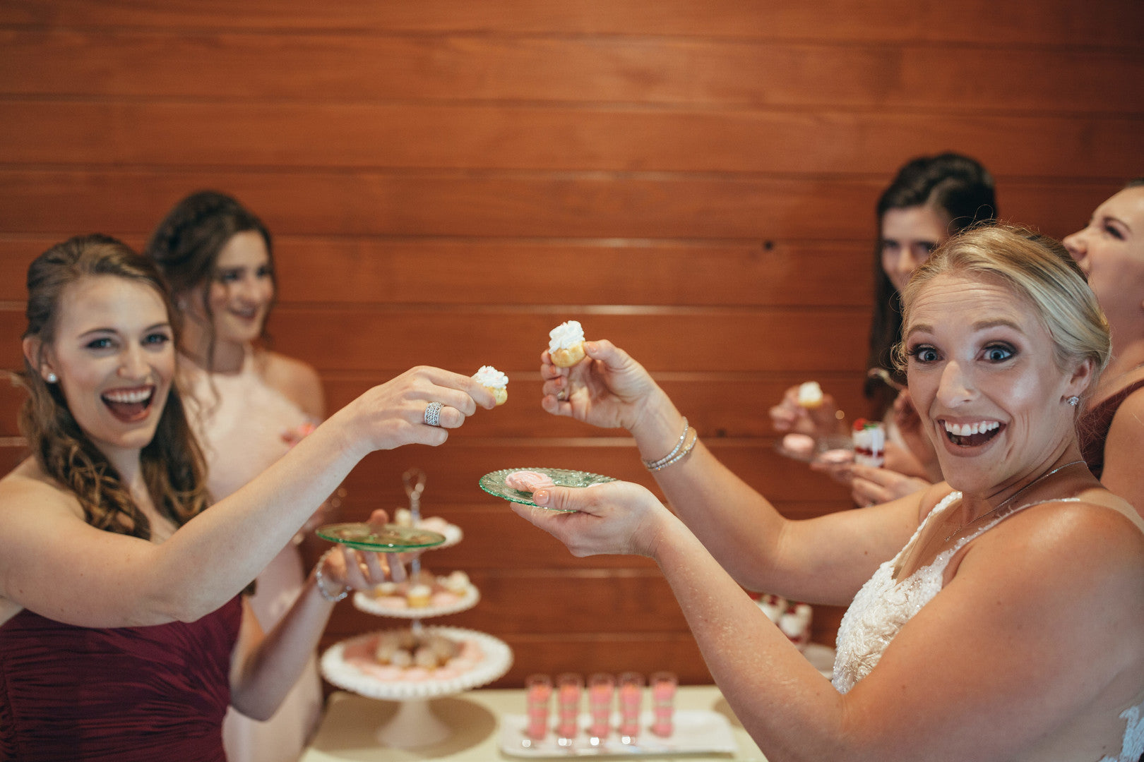 Bride and Bridesmaids | Girls Just Want to Have Fun Bridal Shower | Kate Aspen
