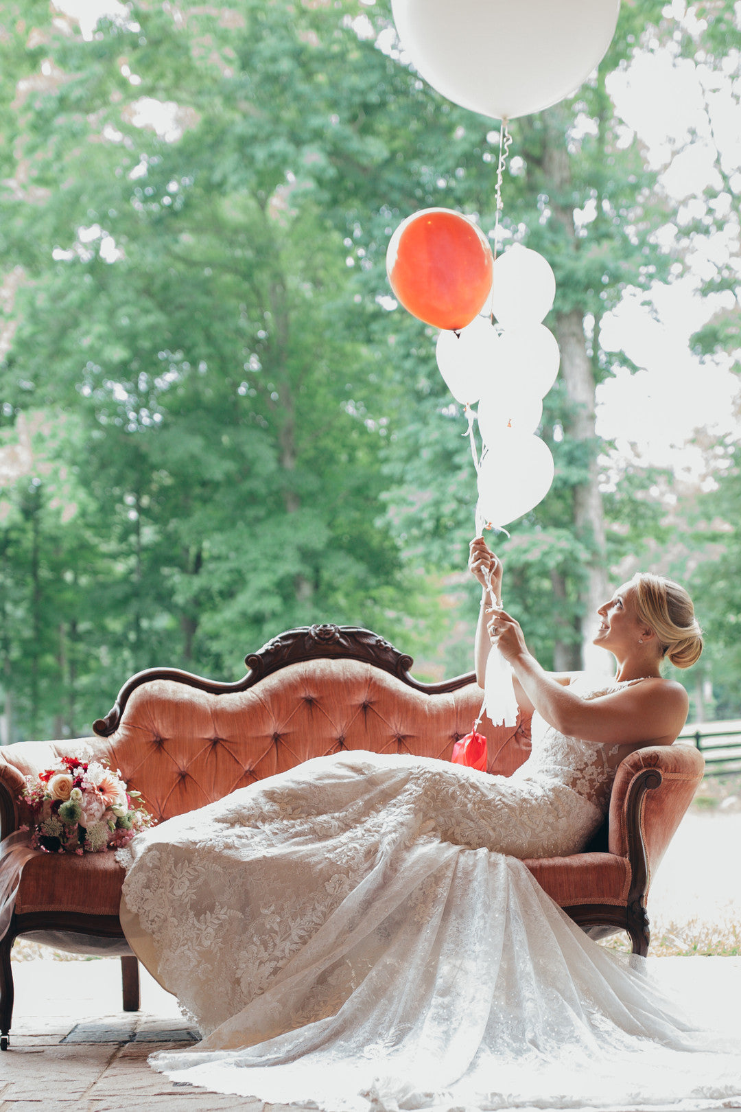 Bride and Balloons | Girls Just Want to Have Fun Bridal Shower | Kate Aspen
