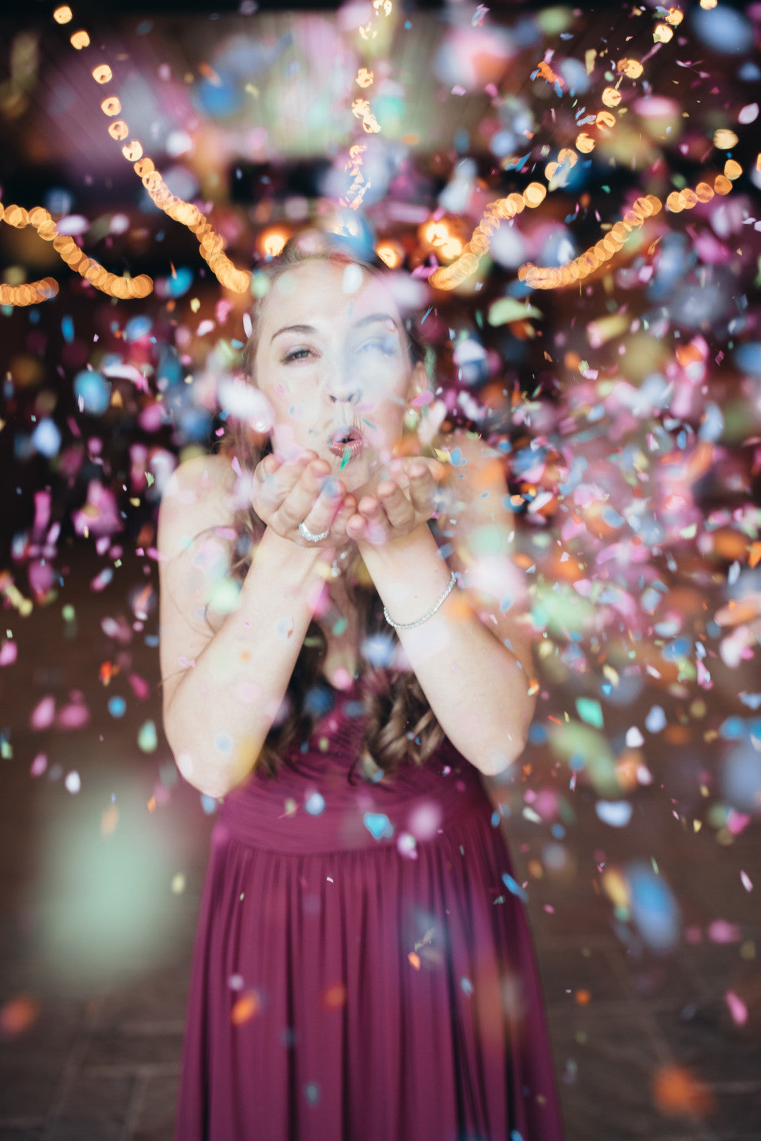 Bridesmaid and Confetti | Girls Just Want to Have Fun Bridal Shower | Kate Aspen