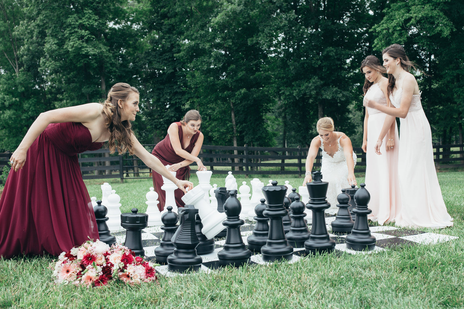Bride and Bridesmaids Playing Games | Girls Just Want to Have Fun Bridal Shower | Kate Aspen