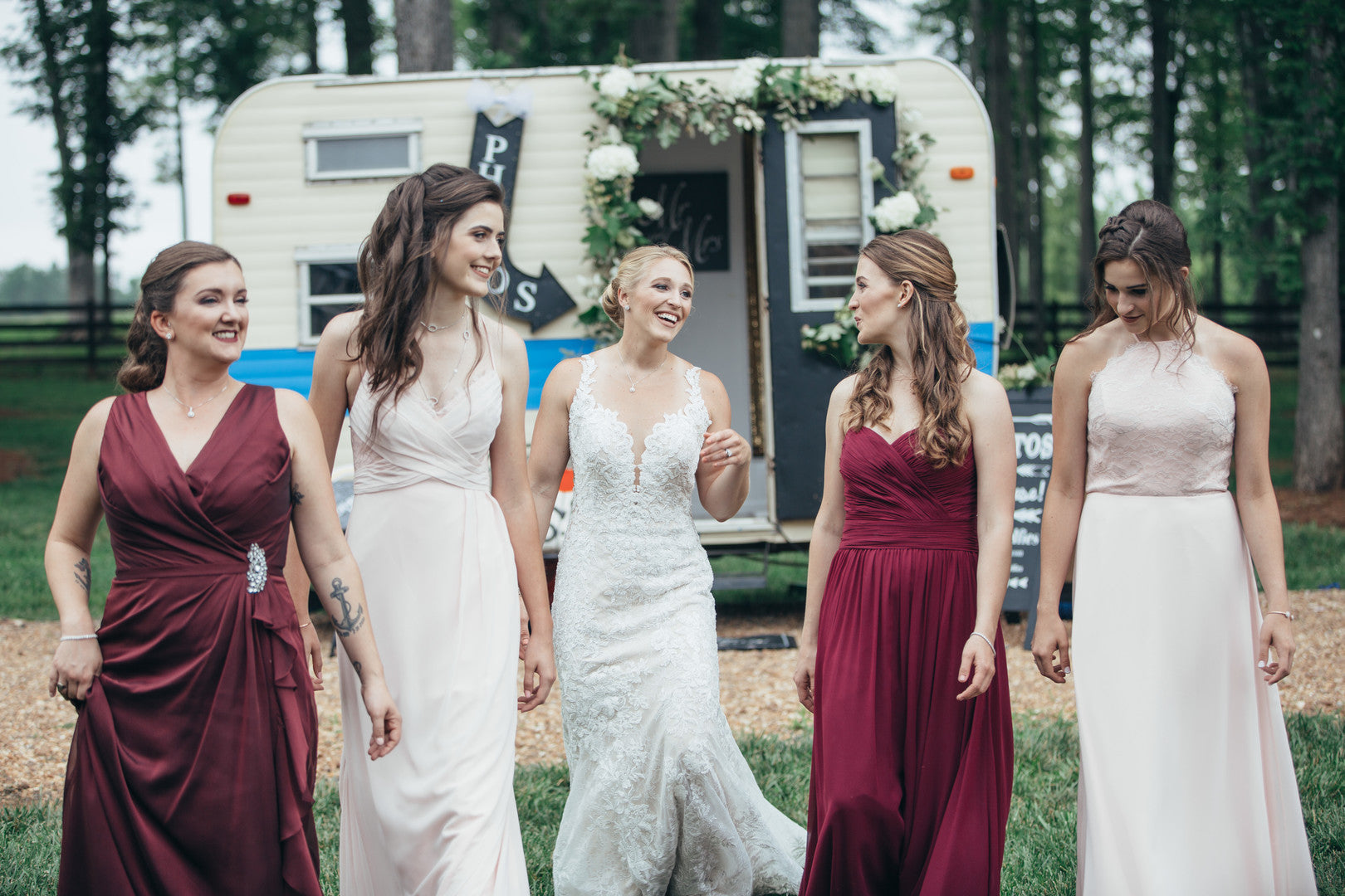 Brides and BridesmaidsBride and Bridesmaids Playing Games | Girls Just Want to Have Fun Bridal Shower | Kate Aspen