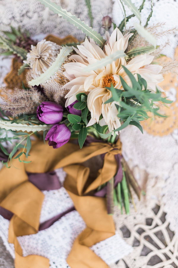 Organic Bouquet | Boho Wedding Inspiration | B. Jones Photography