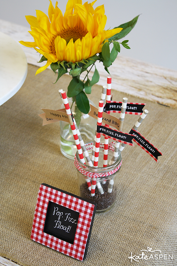 Paper Party Straws Kate Aspen Ice Cream Float Bar