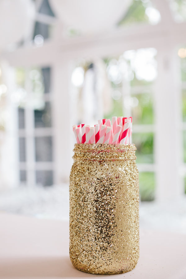 Party Straws | Charleston Wedding | Riverland Studios