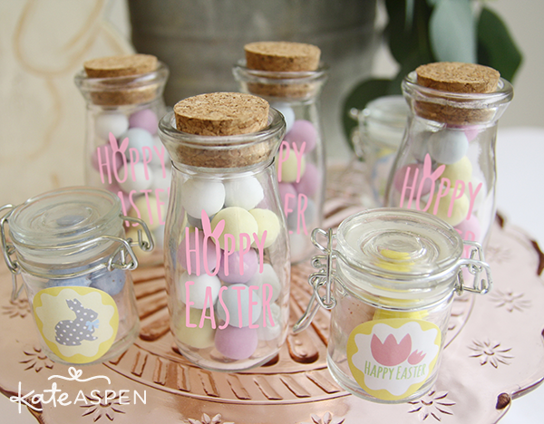Pastel Dessert Table Easter Milk Jars and Favor Jars - Kate Aspen