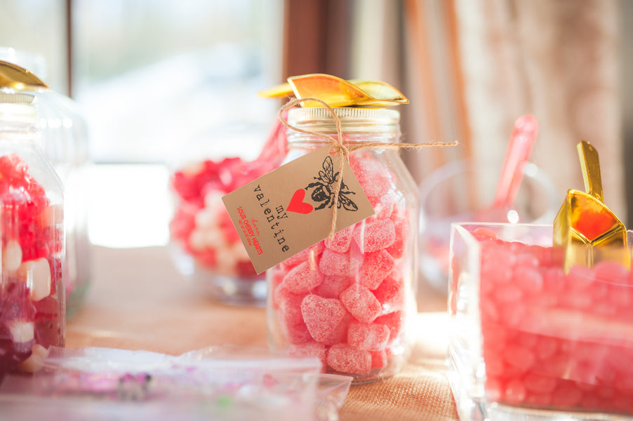 Candy Hearts | Pretty in Pink Baby Shower | Brit Perkins Photography | Kate Aspen