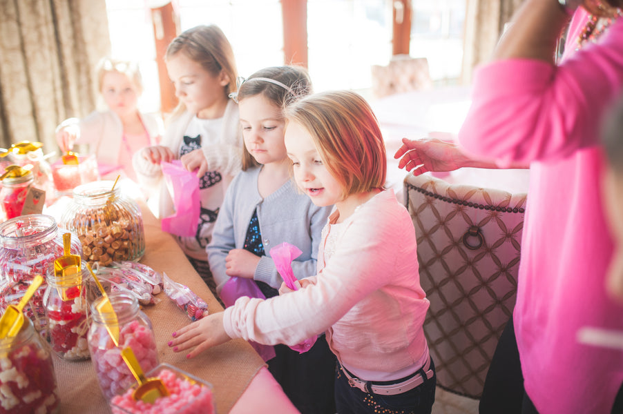 Candy Bar | Pretty in Pink Baby Shower | Brit Perkins Photography | Kate Aspen