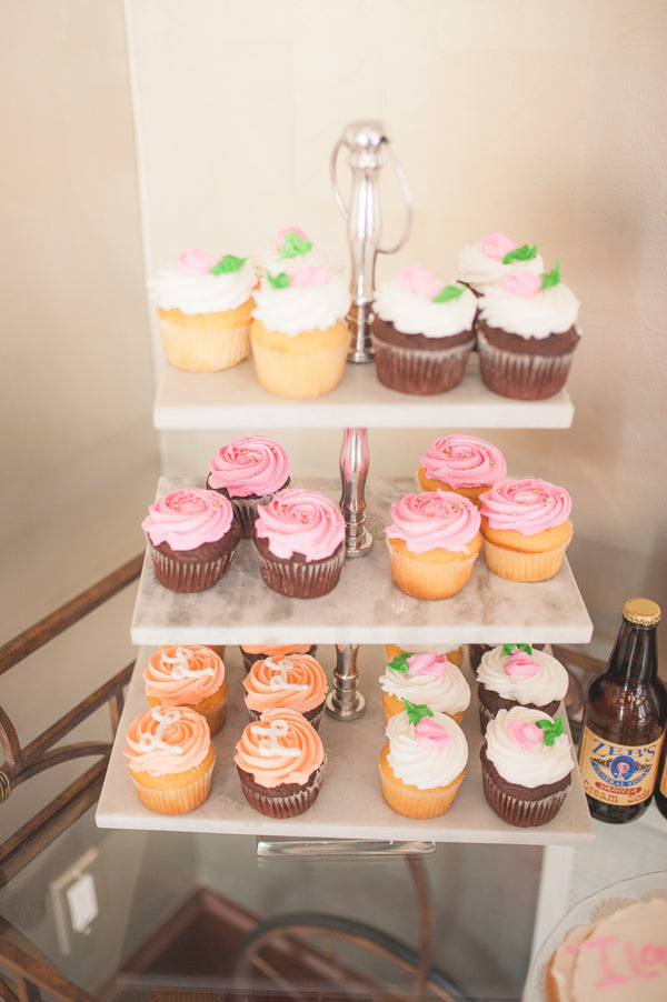 Assorted Cupcakes | Pretty in Pink Baby Shower | Brit Perkins Photography | Kate Aspen
