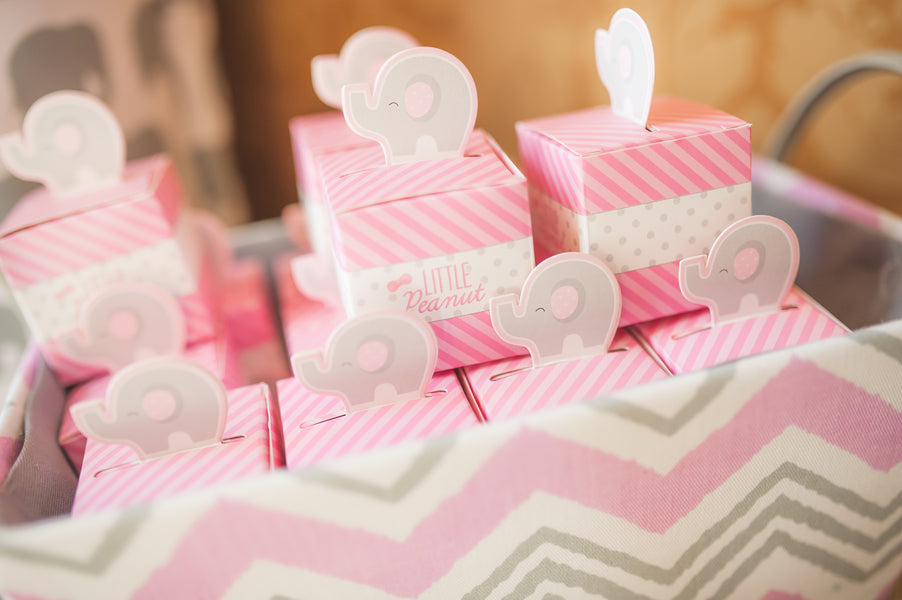 Little Peanut Favor Boxes | Pretty in Pink Baby Shower | Brit Perkins Photography | Kate Aspen