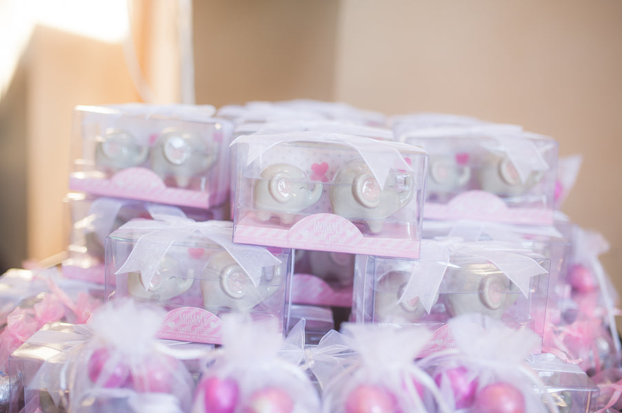 Little Peanut Salt and Pepper Shakers | Pretty in Pink Baby Shower | Brit Perkins Photography | Kate Aspen