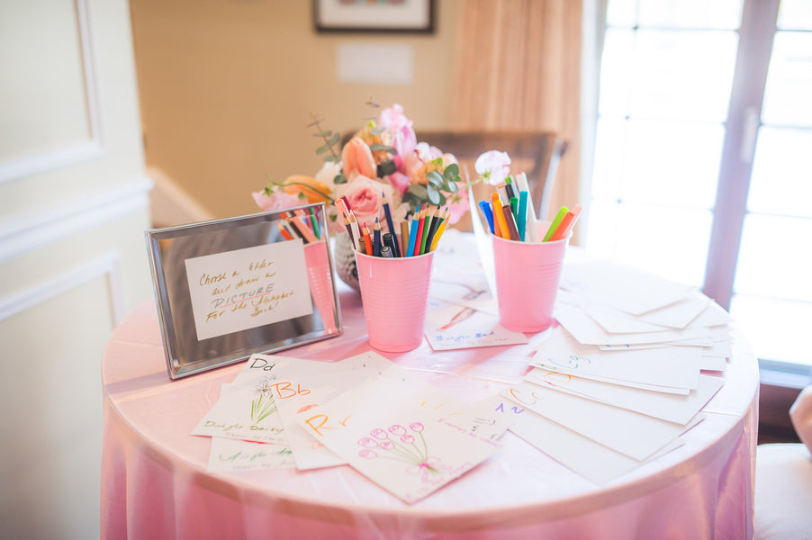 Letter Baby Shower Game | Pretty in Pink Baby Shower | Brit Perkins Photography | Kate Aspen
