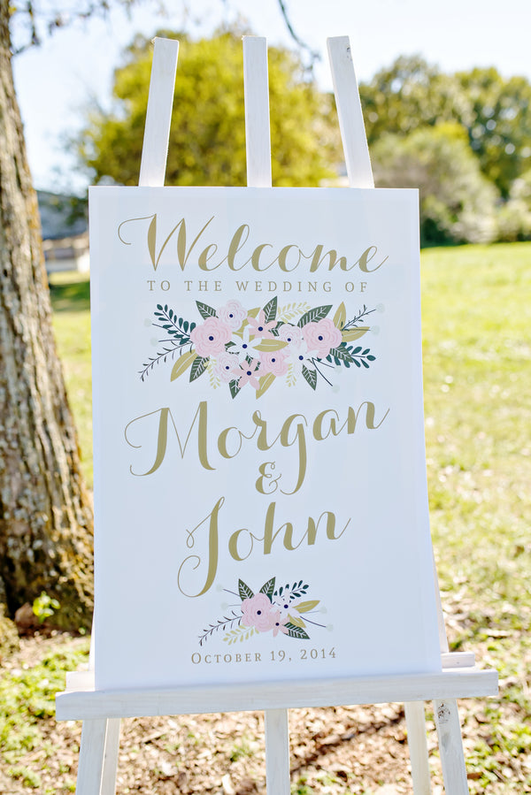 Custom Wedding Welcome Sign | www.justadreamllc.com