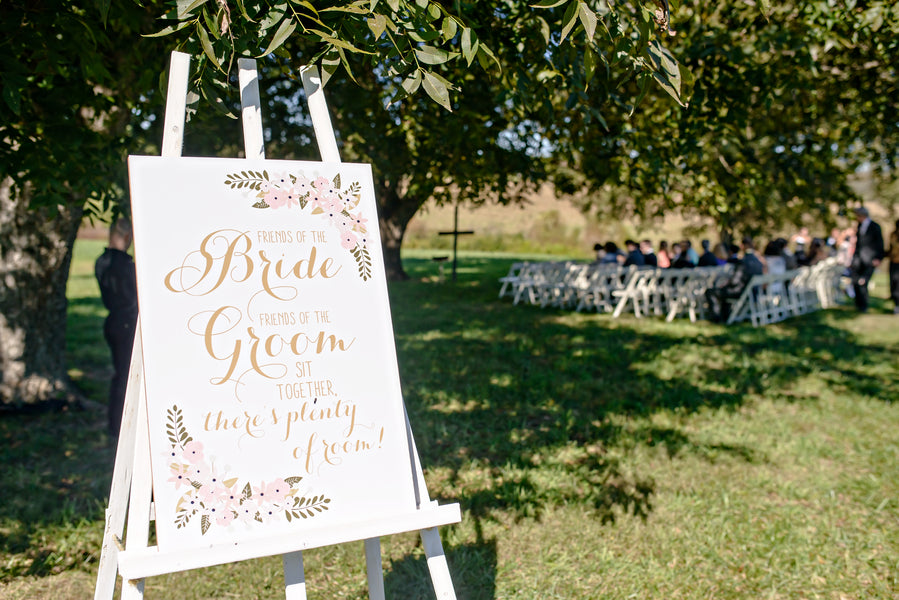 Custom Wedding Sign | www.justadreamllc.com