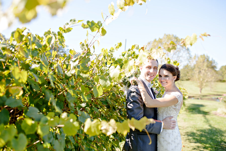 Bridal portraits in a vineyard | www.justadreamllc.com