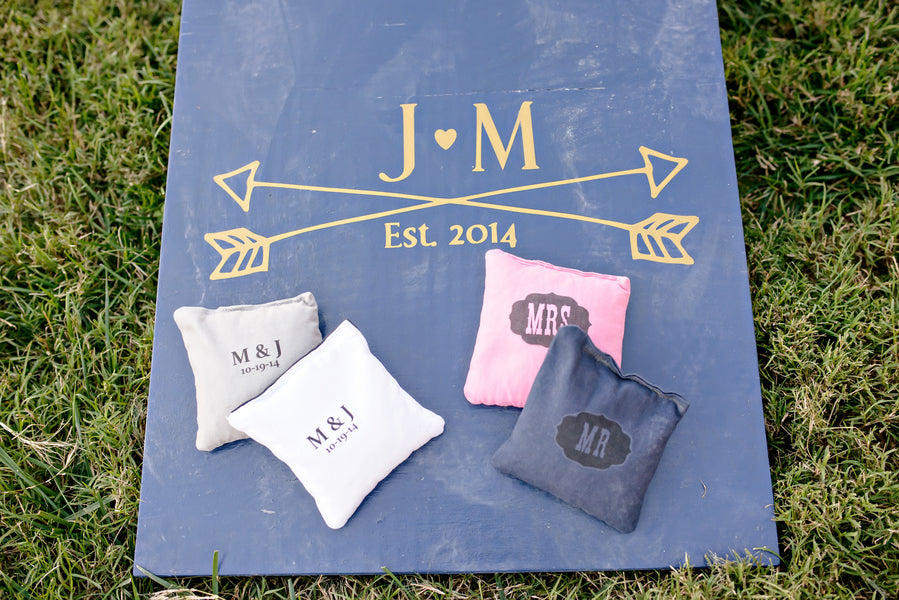 Wedding Corn Hole Game| www.justadreamllc.com