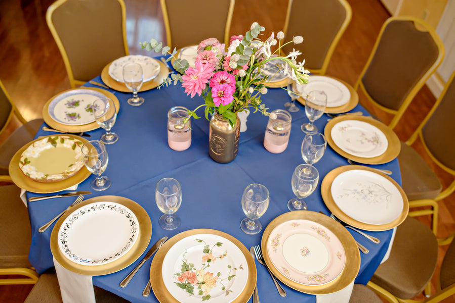 Place Settings with Vintage  China| www.justadreamllc.com