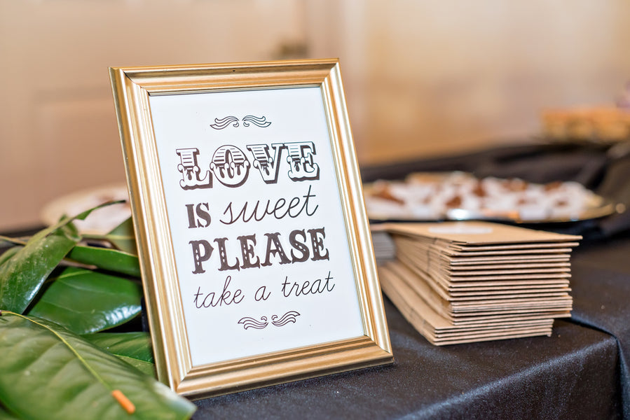 Love Is Sweet Wedding Sign | www.justadreamllc.com