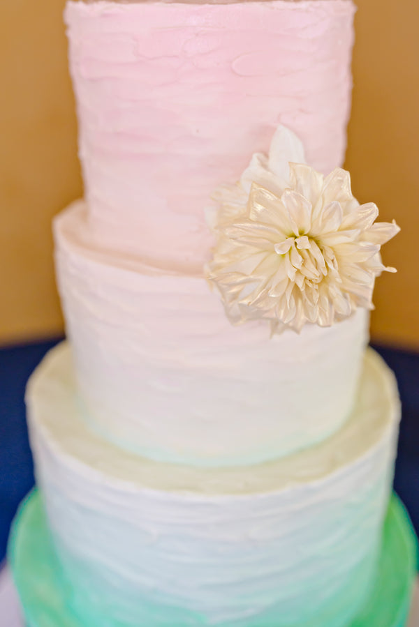 Watercolor Wedding Cake | www.justadreamllc.com
